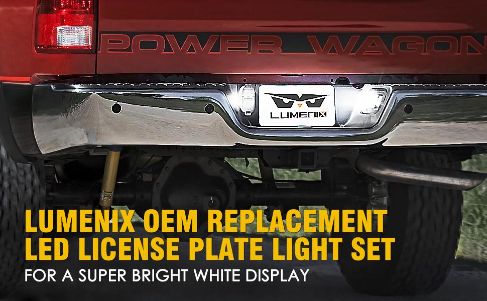 led license plate light