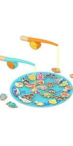 Jouet Pêche Magnétique avec Alphabet et Chiffre