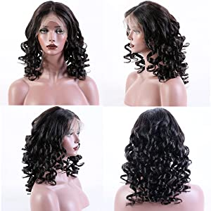 KUN HAIR 360 Lace Frontal Wigs Loose Wave Human Hair Wigs