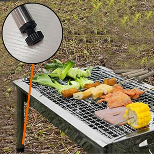 332b20d5 87b5 4121 a0c9 5e1f58edca43.  CR0,0,300,300 PT0 SX300 V1    - ISUMER Charcoal Grill Barbecue Portable BBQ - Stainless Steel Folding BBQ Kabab Grill Camping Grill Tabletop Grill Hibachi Grill for Shish Kabob Portable Camping Cooking Small Grill