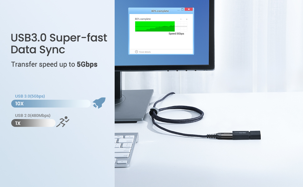 USB3.0 A Male to Female Extension Cord