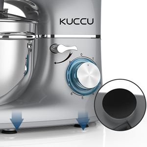 The mixer has blue LED light as power indicator.