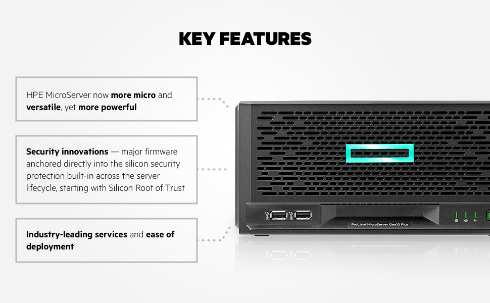 HPE MicroServer Gen10+ P16006-001 Key Features
