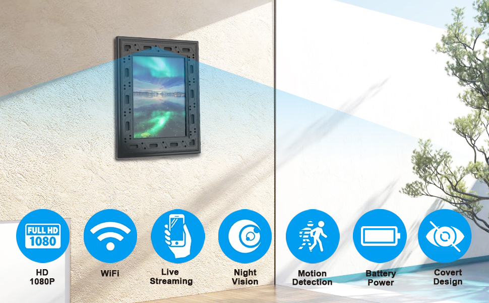 frame camera,picture frame hidden camera,covert frame camera,picture frame hidden camera wifi,nanny