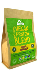BodyMe Organic Vegan Protein Powders Blend or Plant Based Vegan Protein Powder - Maca Cinnamon