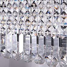 modern crystal lighting ceiling fixture