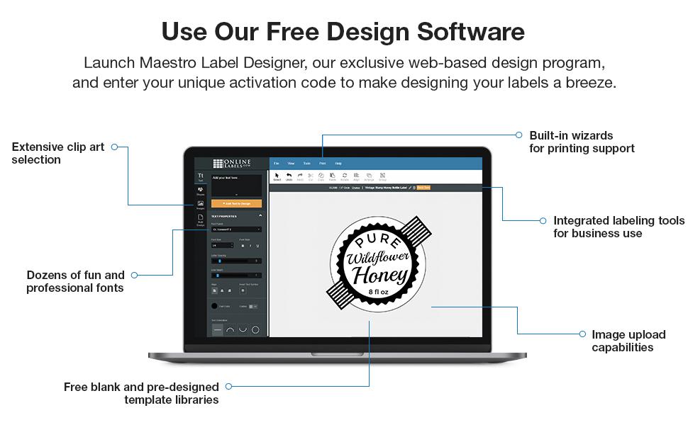 maestro label designer blank printable