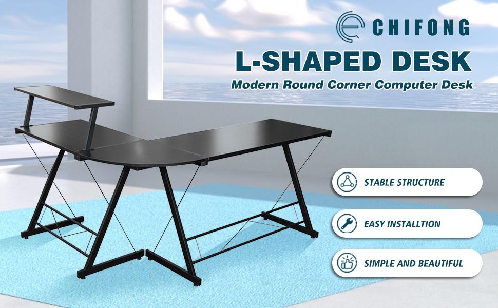 l shaped desk upgrade