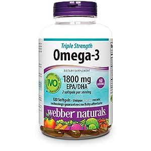 webber naturals omega-3 1,800 dha/epa for heart health