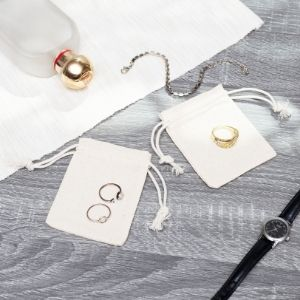 cotton drawstring bag jewelry