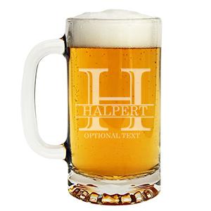 personalized beer mug custom engraved glass tankard
