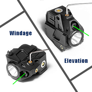 windage elevation pistol laser sight