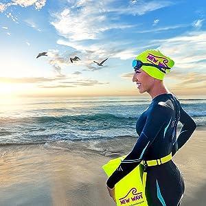 transition mat emergency floatation device triathlon bag safety buoy swim buoy with dry bag swimmers