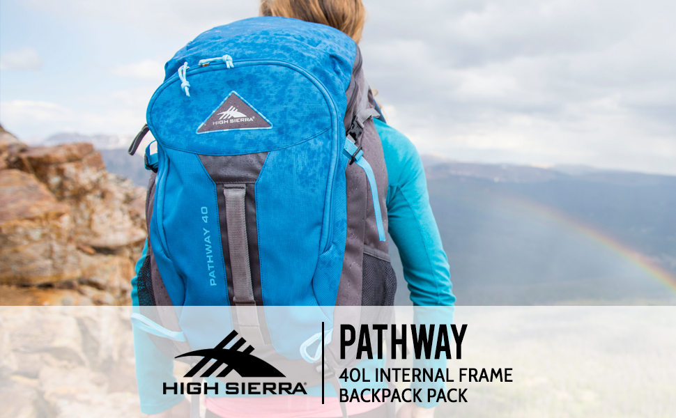 Hiking Camping with Rain Fly High Sierra Pathway 40L Internal Frame Backpack Pack ; High-Performance Pack for Backpacking