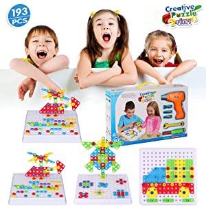 4-in-1 creative jigsaw puzzle toy
