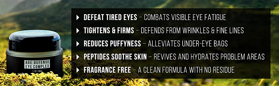 Best Eye Cream for men under eye puffy bags dark circles cream rugged and dapper