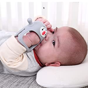Smily Mia Penguin Breast amp; Nipple shaped Soothing Teether Toy