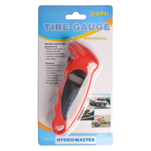1 Pack HYDRO MASTER 0291001 Digital Tire Pressure Gauge 4 Settings for Car//Truck//Bicycle with Backlit LCD Non-Slip Grip /& Lighted Nozzle Red
