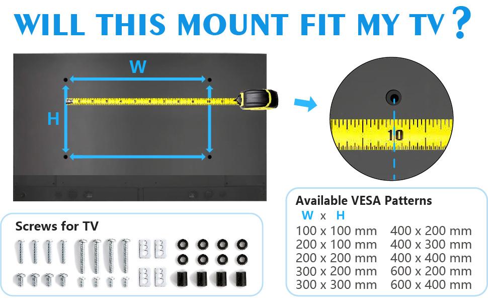 tv stand with vesa mount -vesa max 600x400mm