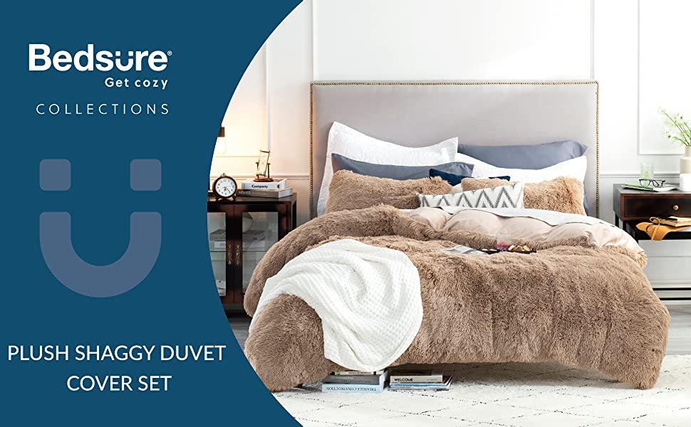 Bedsure Plush Shaggy Duvet Cover Set