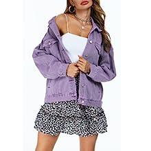 purple blue jean jacket