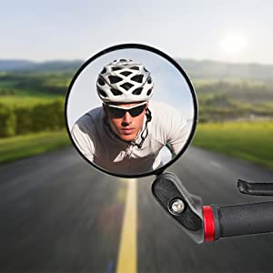 Rotatable and Adjustable Bicycle Mirror Safe Bike Convex Rearview Mirror for MTB Road Bike City Bikes E-Bikes PROZADAHAO HD Bike Mirror Bicycle Mirrors for Handlebars Bike Accessories
