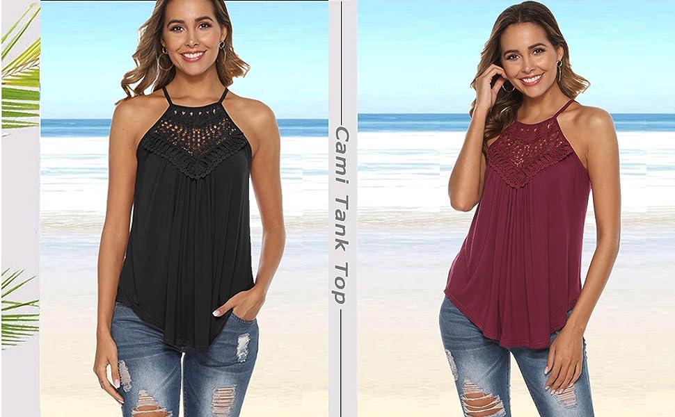 summer tops for women tank tops for women spaghetti strap tops for women lace tank top halter tops