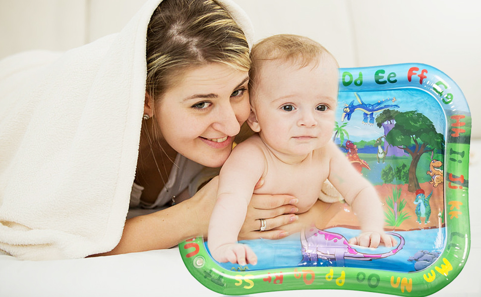tummy time water paly mat