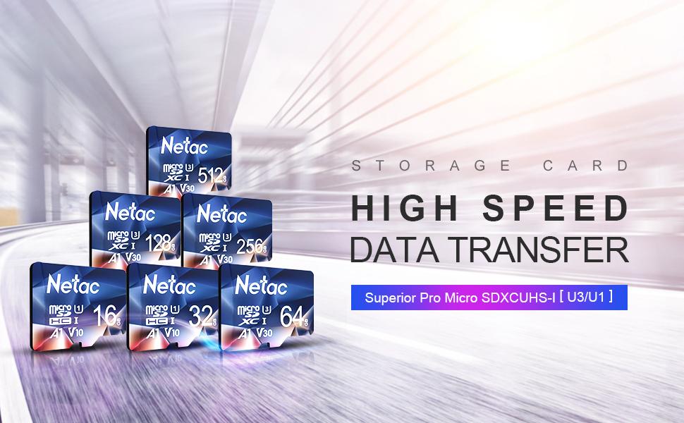Netac Tarjeta de Memoria de 32GB, microSDXC(A1, U1, C10, V10, FHD, 600X) 90 MB/s