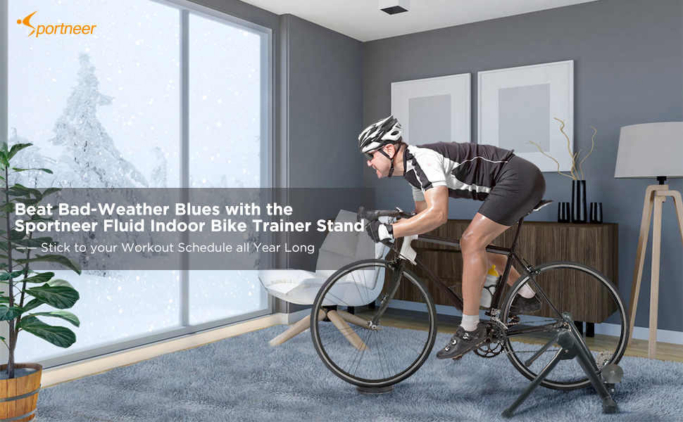 fluid indoor bike trainer winter snow