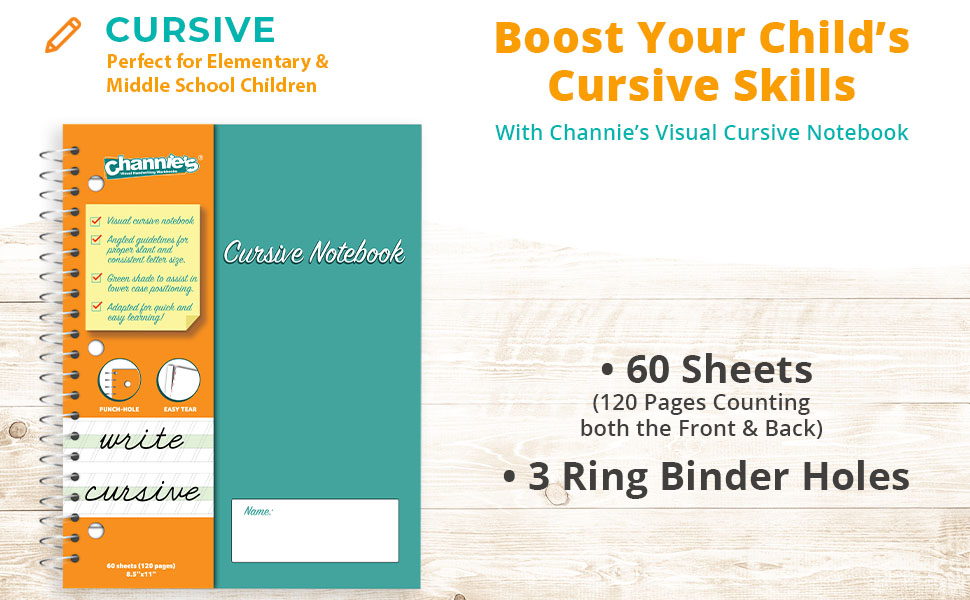 Boost Your Child's Cursive Skills With Channie's Visual Cursive Notebook