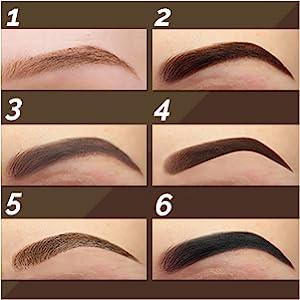 Aesthetica Brow Contour Kit 16-Piece Eyebrow Makeup Palette Set 6 Eyebrow Powders