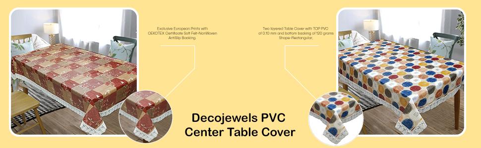 OrientalWeavers Decojewels PVC Center Table Cover.
