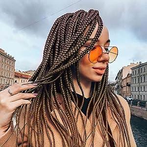 ombre braiding hair pre stretched pre braided box braids x-pression hair extension yaki hair
