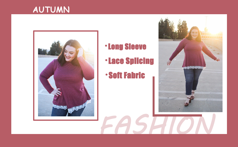 plus size tunic tops