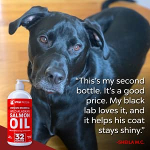 Wild Alaskan Salmon Fish Oil for dogs and cats