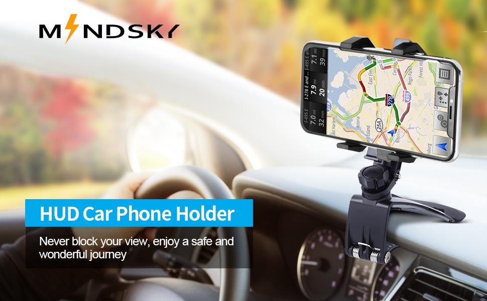 HUD Car Phone Holder
