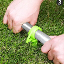 Plastic Spiral Ground Anchor Green Color