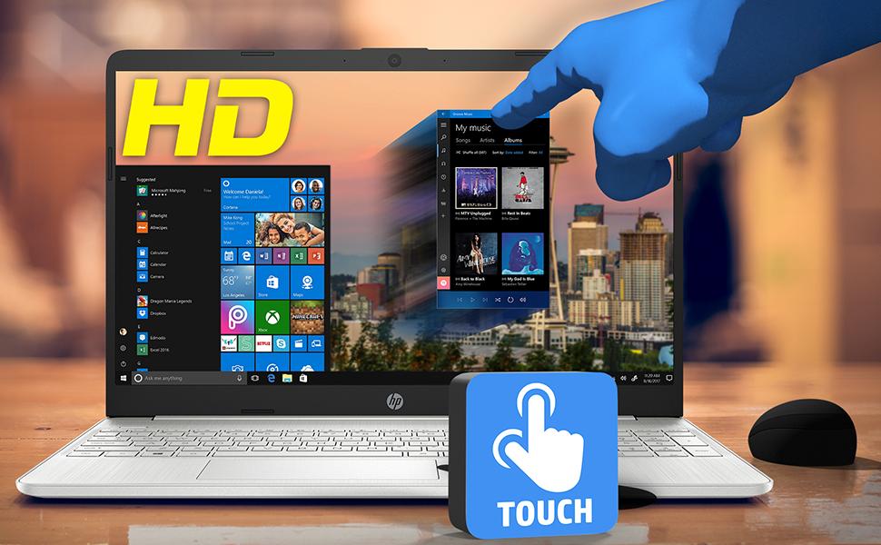 "HP 15 Notebook 15.6"" HD Touchscreen Laptop AMD Ryzen 7 3700U Windows 10 Pro Touch Display"