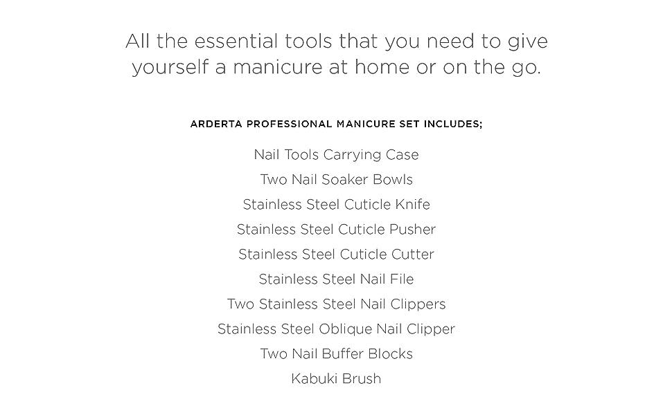 Manicure Tools, Nail Soaker Bowl, Kabuki Brush