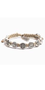 Bracelet with Benedictine Metal Charms