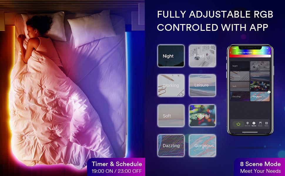 LED strip lights for bedroom Timer Setting