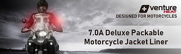 MOTORCYCLE DELUXE JACKET LINER VENTURE HEAT HEATED