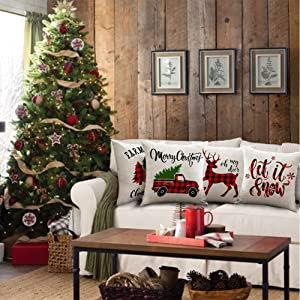 Red Truck Christmas decorations clearance Buffalo Plaid home outdoor indoor