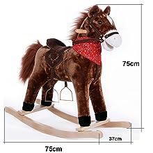 balancín mecedora niños bebes juego juguete regalo animales peluche cinturón sillín caballo sonido