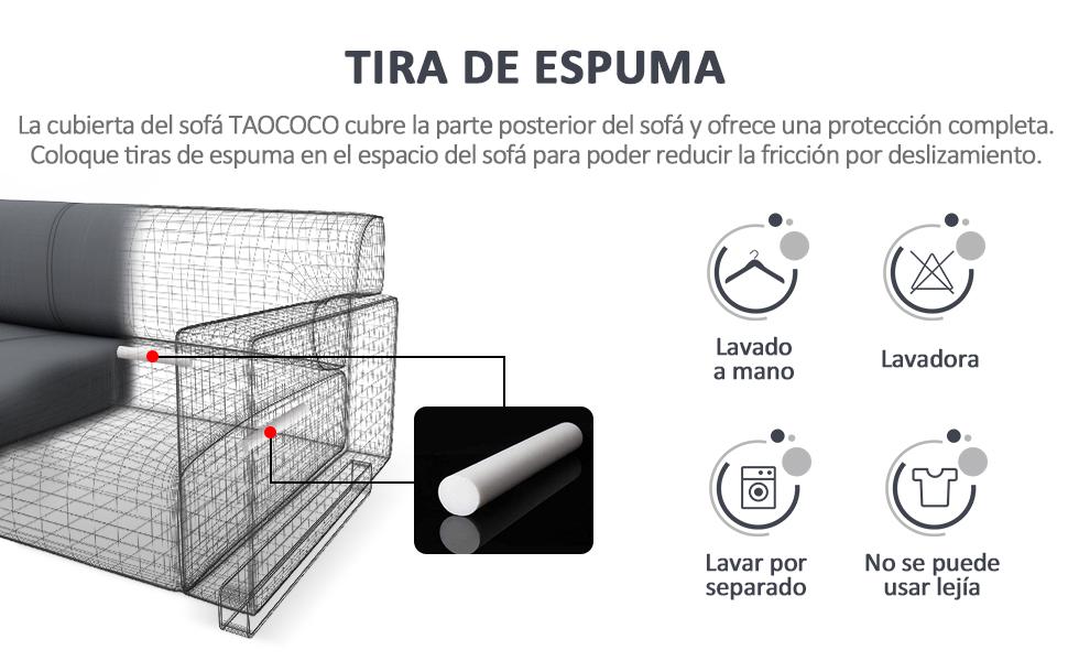 TAOCOCO Funda para sofá Funda para sofá en Forma de L Funda ...