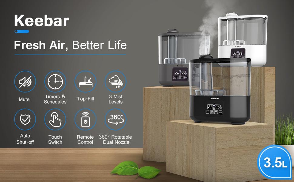 Keebar humidifier led display