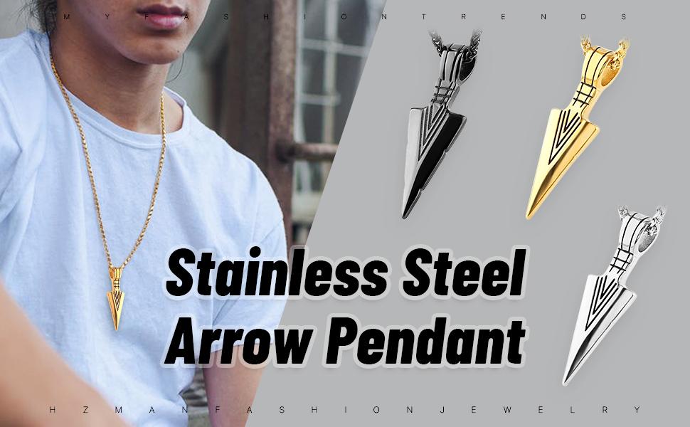 Stainless steel lightning pendant
