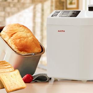AUCMA Panificadora de 550W, 12 programas, sin gluten, hasta 800g, inicio programado, mantenimiento caliente, emporizador digital 13H, sensor de ...