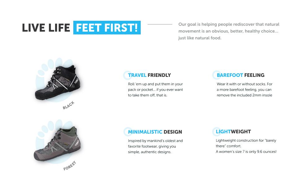 Xero Shoes Xcursion Zero Drop Wide Toe Box Vegan Mens Waterproof Minimalist Lightweight Hiking Boot Hiking Boots Sports Outdoors